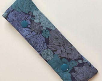 Liberty print floral DPN case / cosy for 15cm double pointed needles