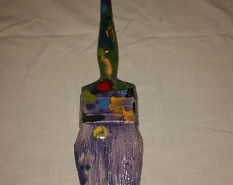 Pop Art Ceramic Paint Brush Sculpture