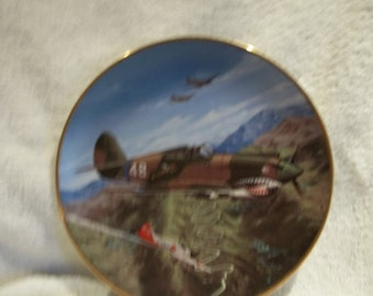 p-40 flying tiger plane plate