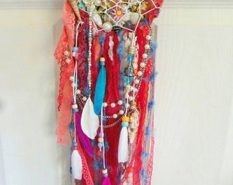 A Mermaid's Treasure Dreamcatcher (Pink & Peach Edition)