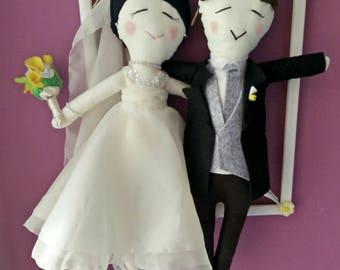 newlywed couple personalized