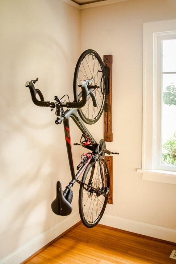 bike rack 3 39 vertical wall mount adjustable with wall. Black Bedroom Furniture Sets. Home Design Ideas