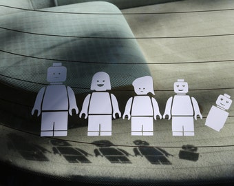 Lego Family Decal Any Size Any Colors