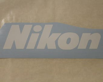 Nikon Decal Any Size Any Colors