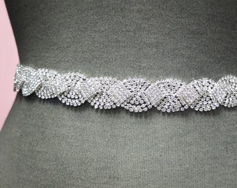 Wedding Belt - Jeweled Wedding Sash - Crystal Rhinestone Bridal Belt - Wedding Belts And Sashes - Wedding Dress Belt - Bridal Sash