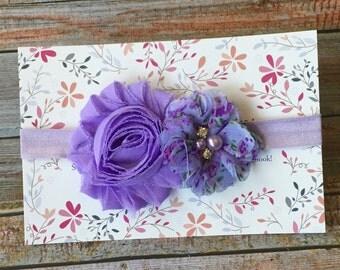 Lavender Headband, Purple Headband, Infant Headband, Baby Headband, Baby Girl Headband, Newborn Headband, Spring Headband, Easter Headband