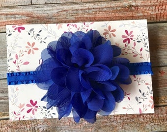 Baby Headband/Baby Girl Headband/Royal Blue Headband/Newborn Headband/Royal Blue/Baby Headbands/Headband/Infant Headband/Blue Baby Headband