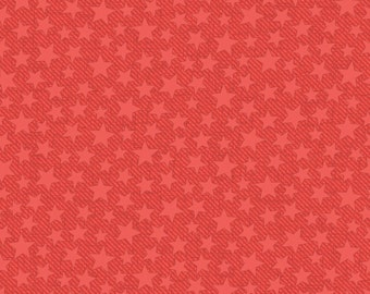 """Last Fat Quarter,Red Oh My Stars Cotton Fabric from the Firehouse Friends Collection be Benartex, 18""""x22"""""""