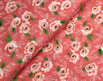 Floral Wildest Rose in Pink from the Sugar Pie Collection by Lella Boutique for Moda