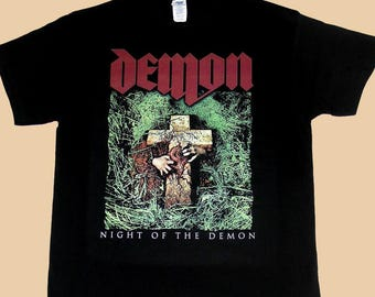 Demon Night Of The Demon, T-shirt 100% Cotton