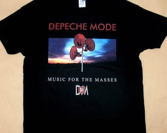 Depeche Mode, Music For The Masses, T-shirt 100% Cotton