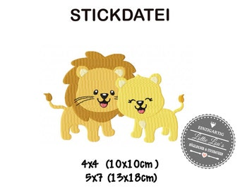 Embroidery design embroidery Love lion Valentines Day 4 x 4 5 x 7