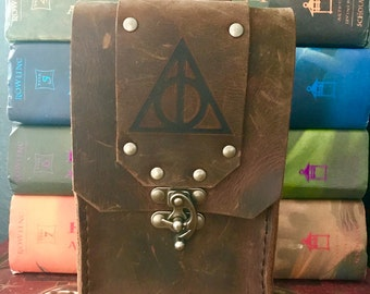 Leather Harry Potter Deathly Hallows Wizard/Witch Pouch