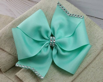 YOU CHOOSE COLOR - Teal pinwheel - boutique hair bow - pinwheels - hair bow clips - side bows - baby hair bow - infant bows