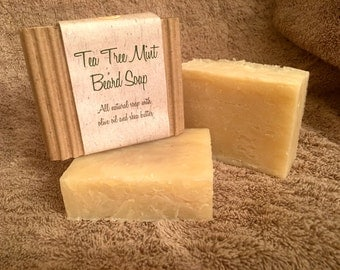 Tea Tree Mint Beard Soap