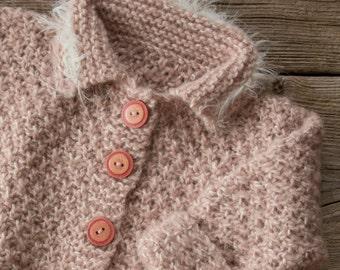 handknit baby Cardigan 68/74