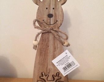 Wooden Reindeer Jigsaw Deco
