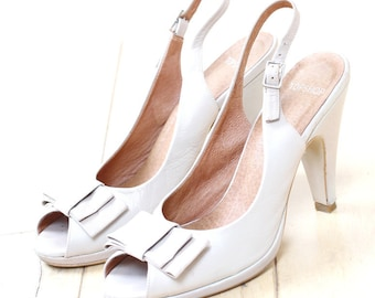 TOPSHOP White Summer Leather Sandals, Party Sandals, Wedding party sandals, Holiday Sandals