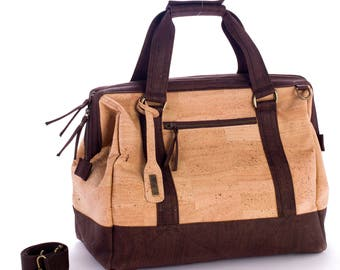 Cork overnight bag, suitcase, cork travel bag, Weekender