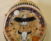 Wambli Wakan ( Sacred Eagle)/Native American Drum Painted by Lakota Artist Sonja Holy Eagle
