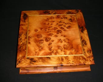 New Thuya Burl Box With Four Drawers.