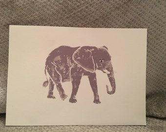 Elephant Blank Greeting Card