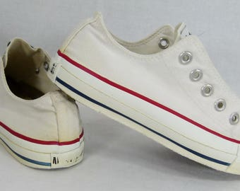 Rare Vintage Converse All Star Chuck Taylor Low Shoes Made in USA 6.5