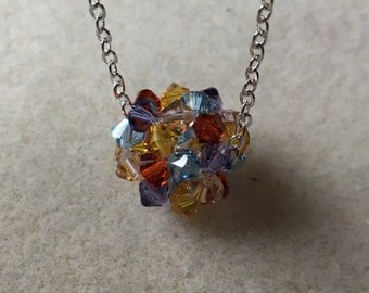 Swarovski Crystal Bead Ball Necklace