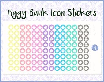 Payday Stickers | Piggy Bank Stickers | Planner Stickers | Journal Stickers | Diary Stickers - Erin Condren, Happy Planner, Kikki K, Filofax
