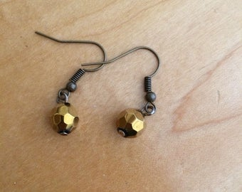 Gold Orb Earrings