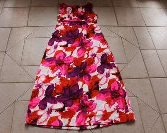 Vintage MAIER SPECIALTY SHOPS Hawaiian Maxi Dress    Sz S/M