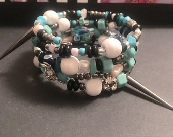 Silver Spiked Wired Bracelet