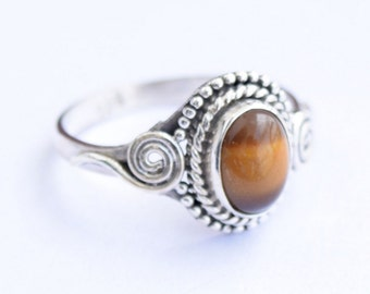 Tiger Eye Ring, Tiger Eye Ring,Tiger Eye Stone  Ring, Sterling Silver Ring, Tiger Eye Jewellry Size =  3 4 5 6 7 8 9 10 11 12 13