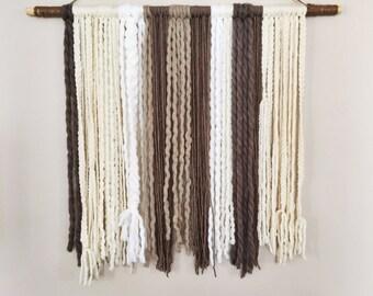 Handcrafted Yarn Hanging: Winter