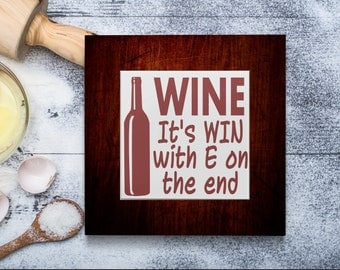 Wood and Tile Trivet-Hotpad, Hot Plate-Pot Holder- Sorry For What I Said When I Was Hungry- Chef Gift-Personalized Kitchen Decor