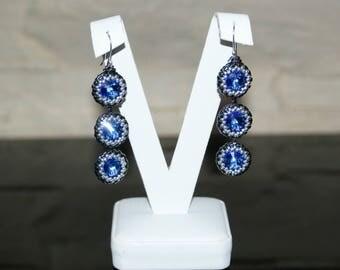 """Long Earrings """"Sapphire"""""""
