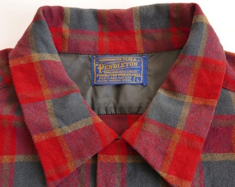1950's Pendleton Wool Shirt Vintage Size Large.