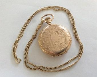 Ladies goldfilled pendant watch antique vintage # 153