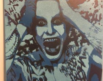 Spray painted (original) jared leto joker