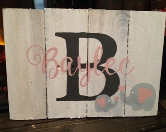 Rustic/Reclaimed Wood Personalized Sign, Perfect for Baby's Nursery, Child's Bedroom, Playroom, Baby Shower, Birthday, Christmas