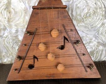 Vintage Door Harp Chime Musical Wood