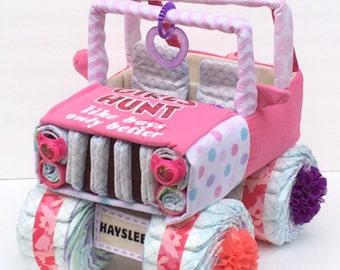 Pink Camo Jeep, Pink Camo Baby, Pink Camo Baby Shower, Girls Hunt Too