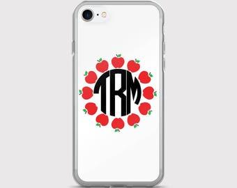 Apples Teacher Personalized Monogram iPhone Case | iPhone 5/5s/SE | iPhone 6/6s | iPhone 6 Plus/6s Plus |  iPhone 7 | iPhone 7 Plus