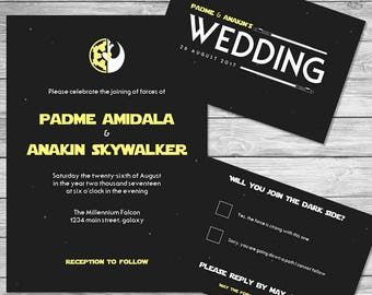 Star Wars Wedding Invitation Set ~Digital~
