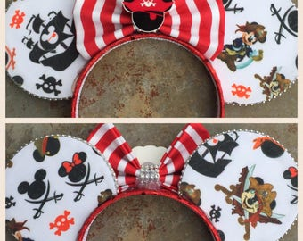 Pirate Mickey Minnie ears!  Pirates of the Caribbean Mouse ears