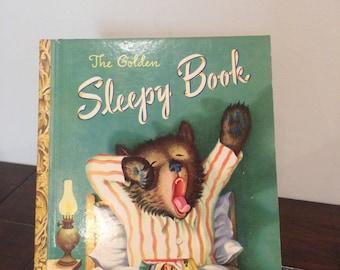 Vintage The Golden Sleepy Book 1948 Little Golden Book (A Golden Clasic)