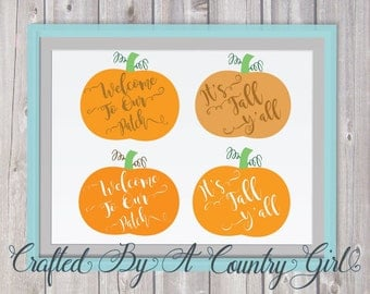 Welcome to Our Patch, Happy fall yall, SVG, bundle, pumpkin patch, Halloween, vinyl, cut file, fall, autumn, Halloween svg, silhouette