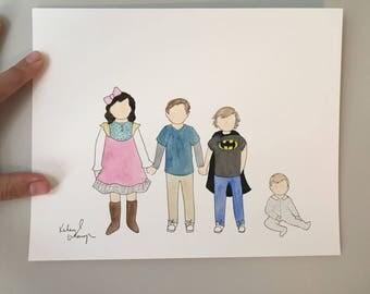 Children/grandchildren painting