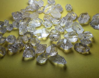 raw herkimer diamond quartz , huge herkimer diamond quartz crystals lot , eye clean diamond quartz crystals lot 110 grams
