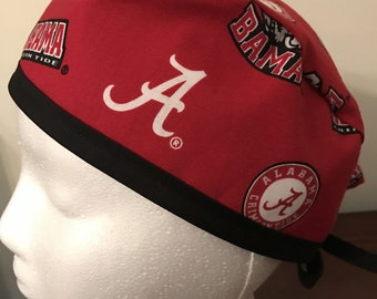 Men's Scrub Cap/Hat - University of Alabama - red - One size fits most